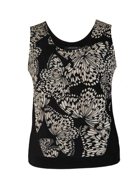 Chesca Plus Size Butterfly print jersey camisole
