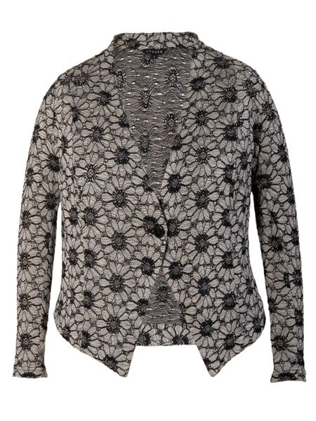 Chesca Daisy jersey lace cardigan