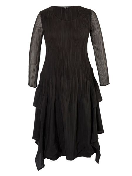 Chesca Plus Size Crush pleat layered dress