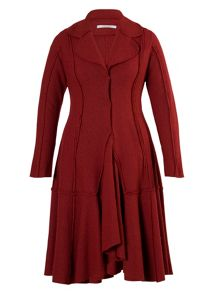 Ruby Seamed Flared Coat