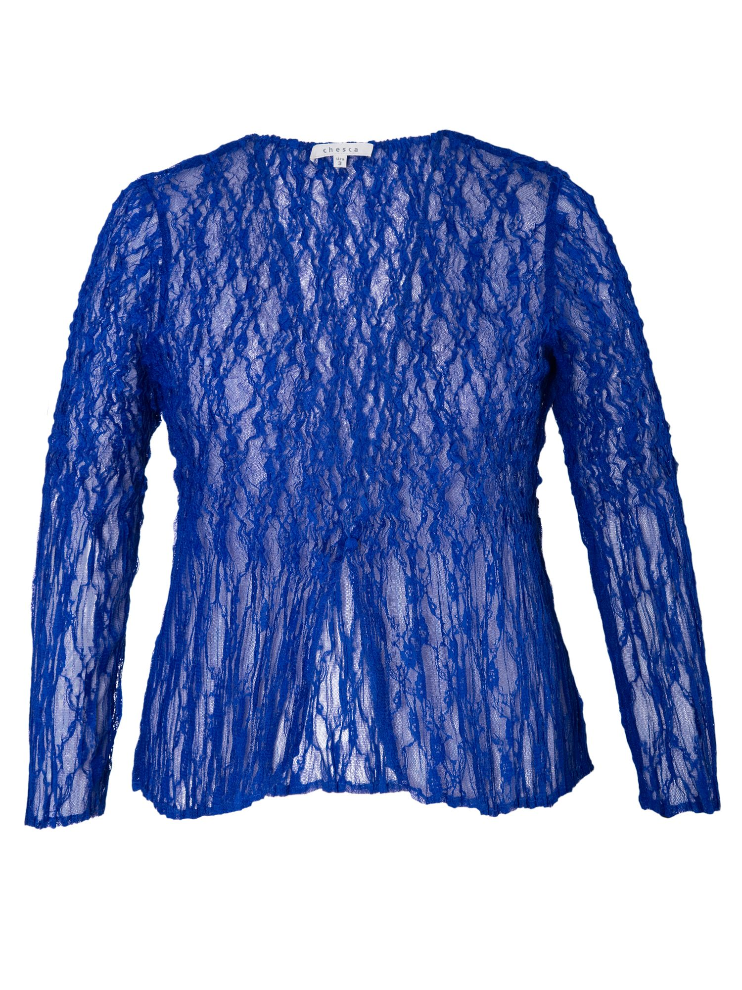 Crush pleat lace jacket