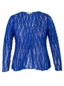 Chesca Crush pleat lace jacket