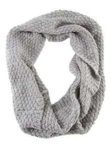 Grey knitted sequins snood