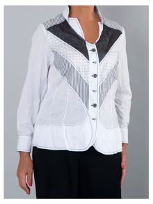 Plus Size Shirt with chevron panels