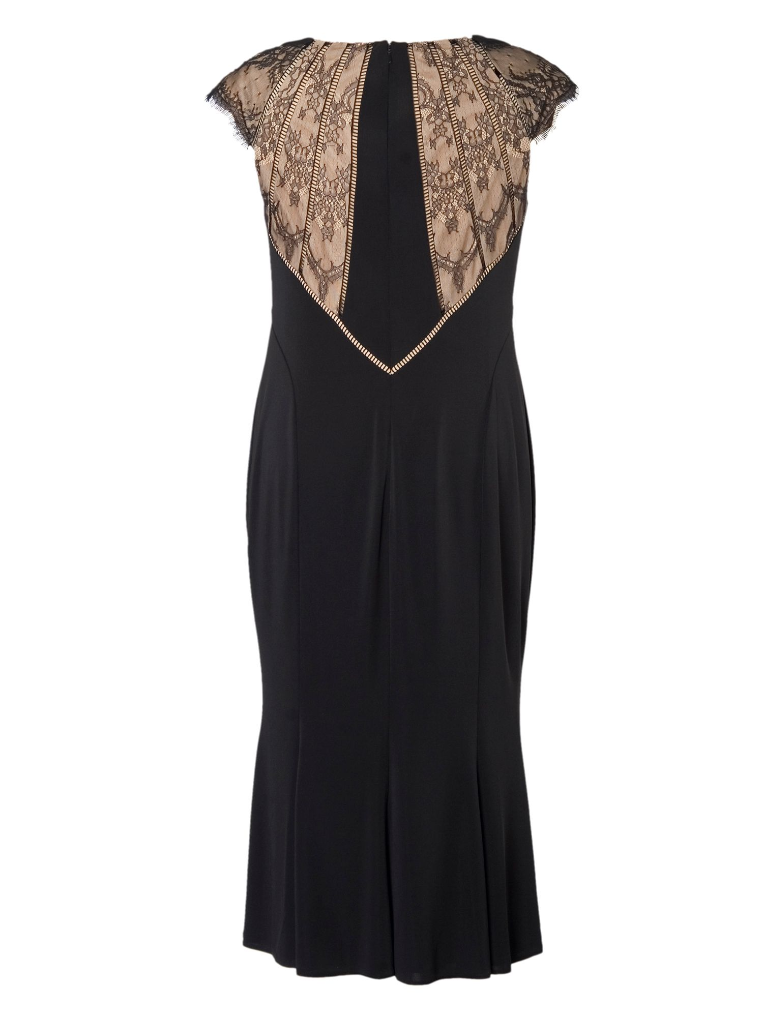 Evening Dress with Lace Back Detail