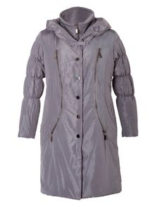 Chesca Grey Padded Coat