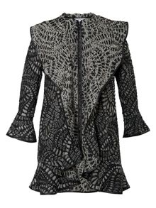 Chesca Spangle Paisley Jacquard Coat