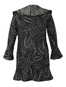 Spangle Paisley Jacquard Coat