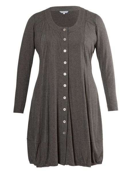 Chesca Studded melange jersey cardigan/dress