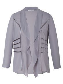 Chesca Chiffon Shrug With Satin Trim