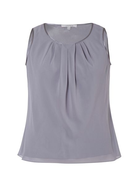 Chesca Plus Size Chiffon Camisole With Satin Trim