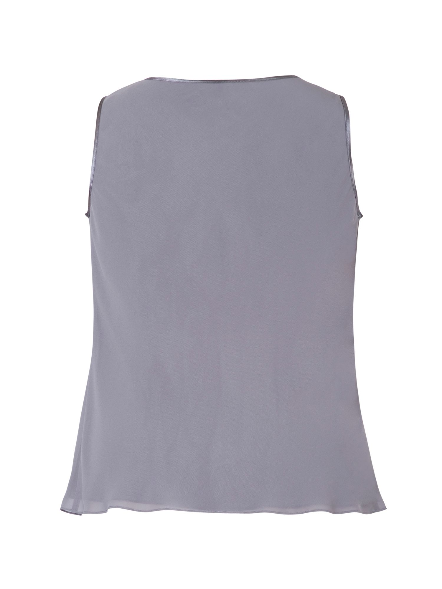 Chiffon Camisole With Satin Trim
