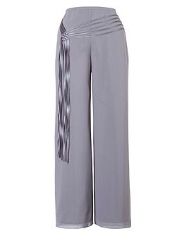 Chesca Chiffon Trouser With Spaghetti Belt Trim
