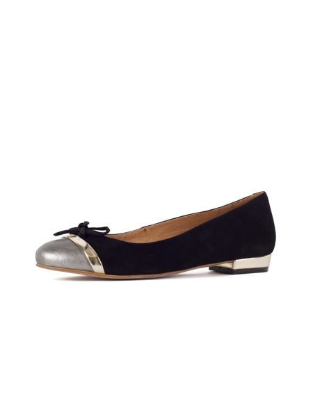 Chesca Black Pewter Suede Pumps