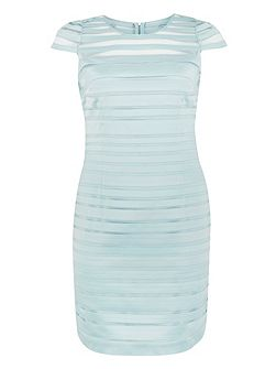 Plus Size Opal Tapework Mesh Dress
