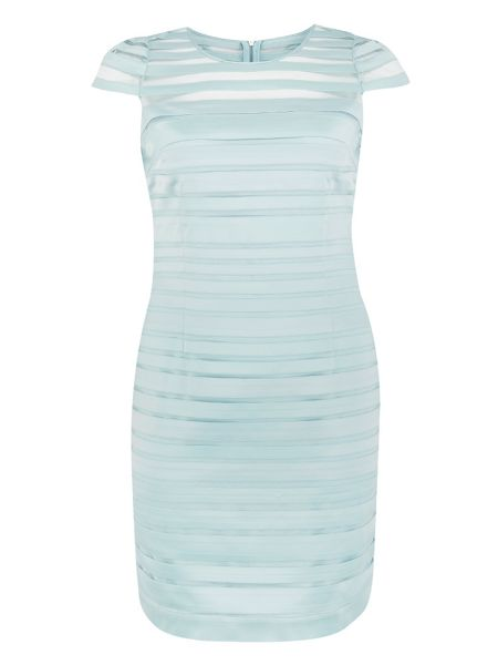 Chesca Plus Size Opal Tapework Mesh Dress
