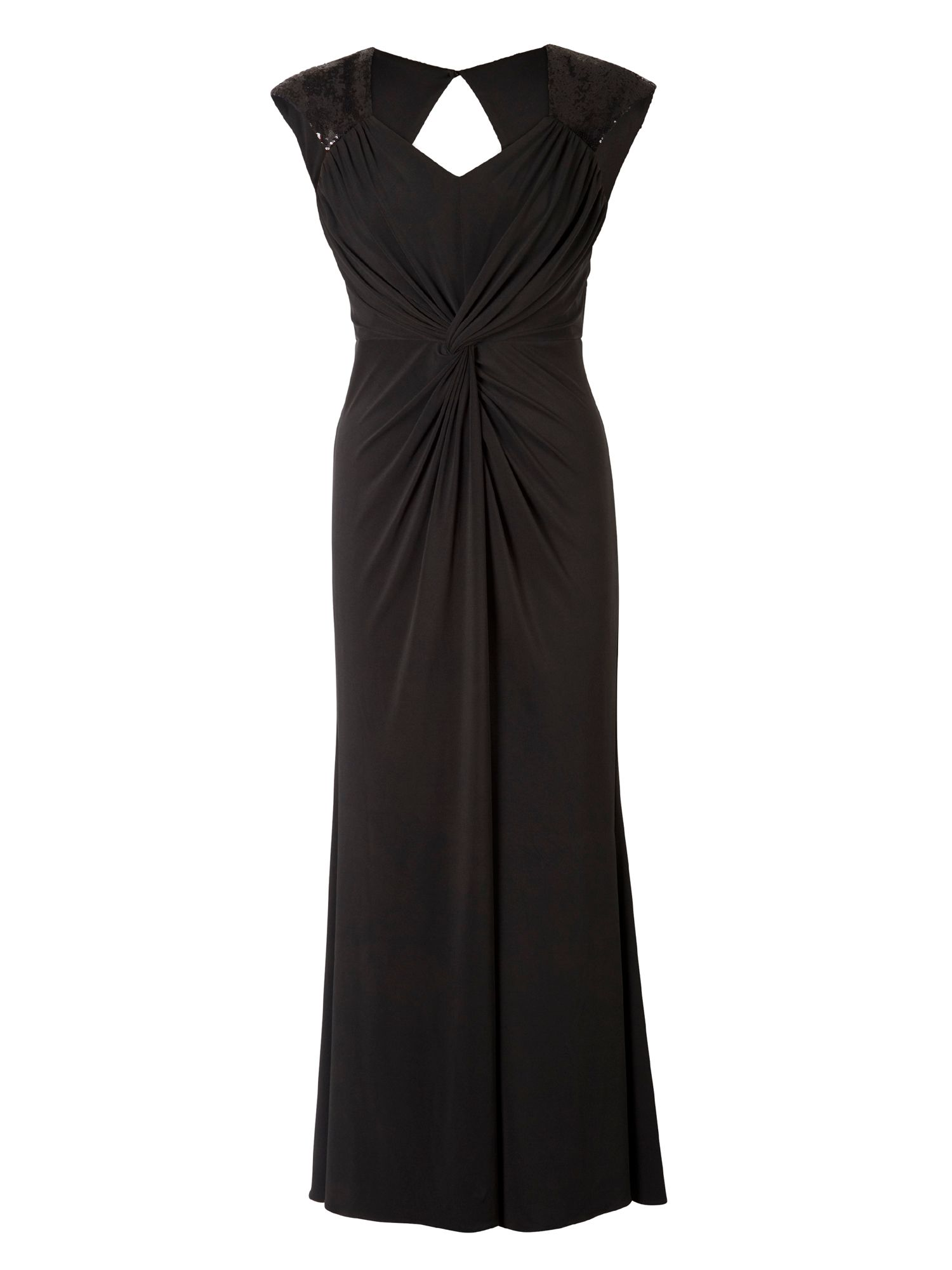 1940s Dresses and Clothing UK Chesca Plus Size Maxi Dress with Sequin Trim £155.00 AT vintagedancer.com