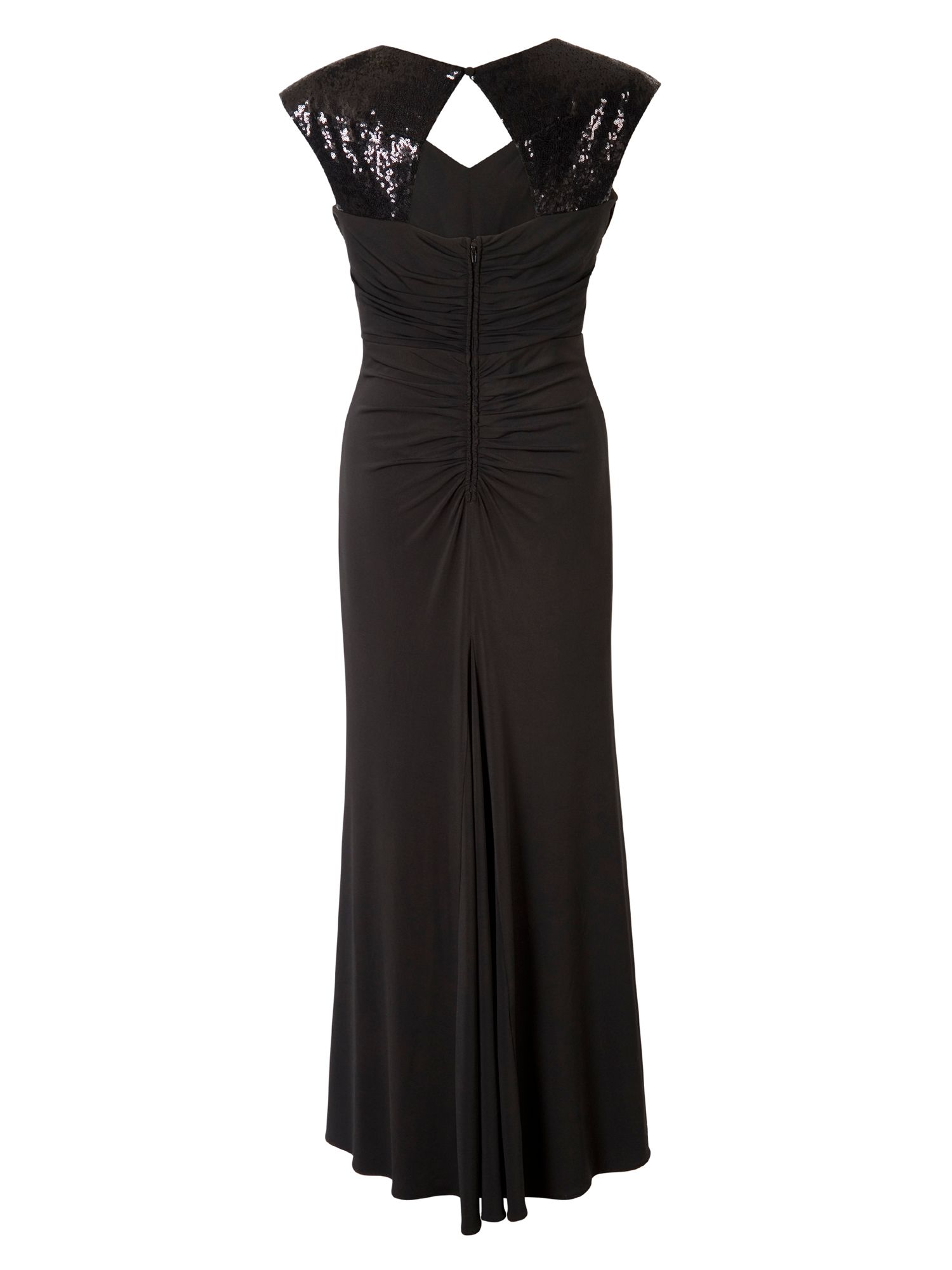 Maxi Dress with Sequin Trim
