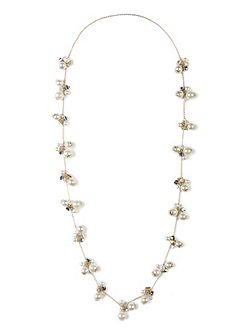 Chesca Glass Pearl Long Necklace