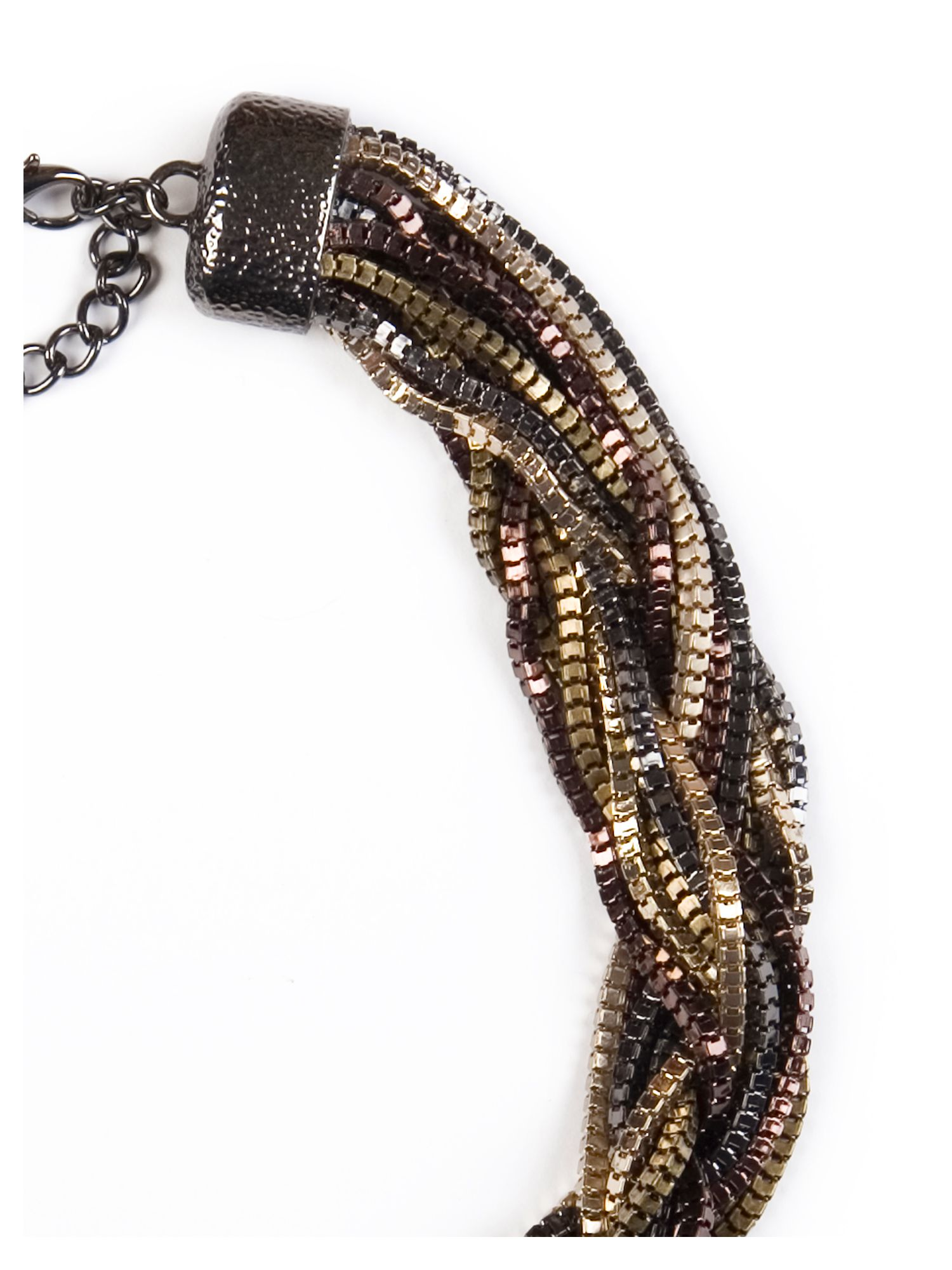 Multi Tones Twisted Necklace