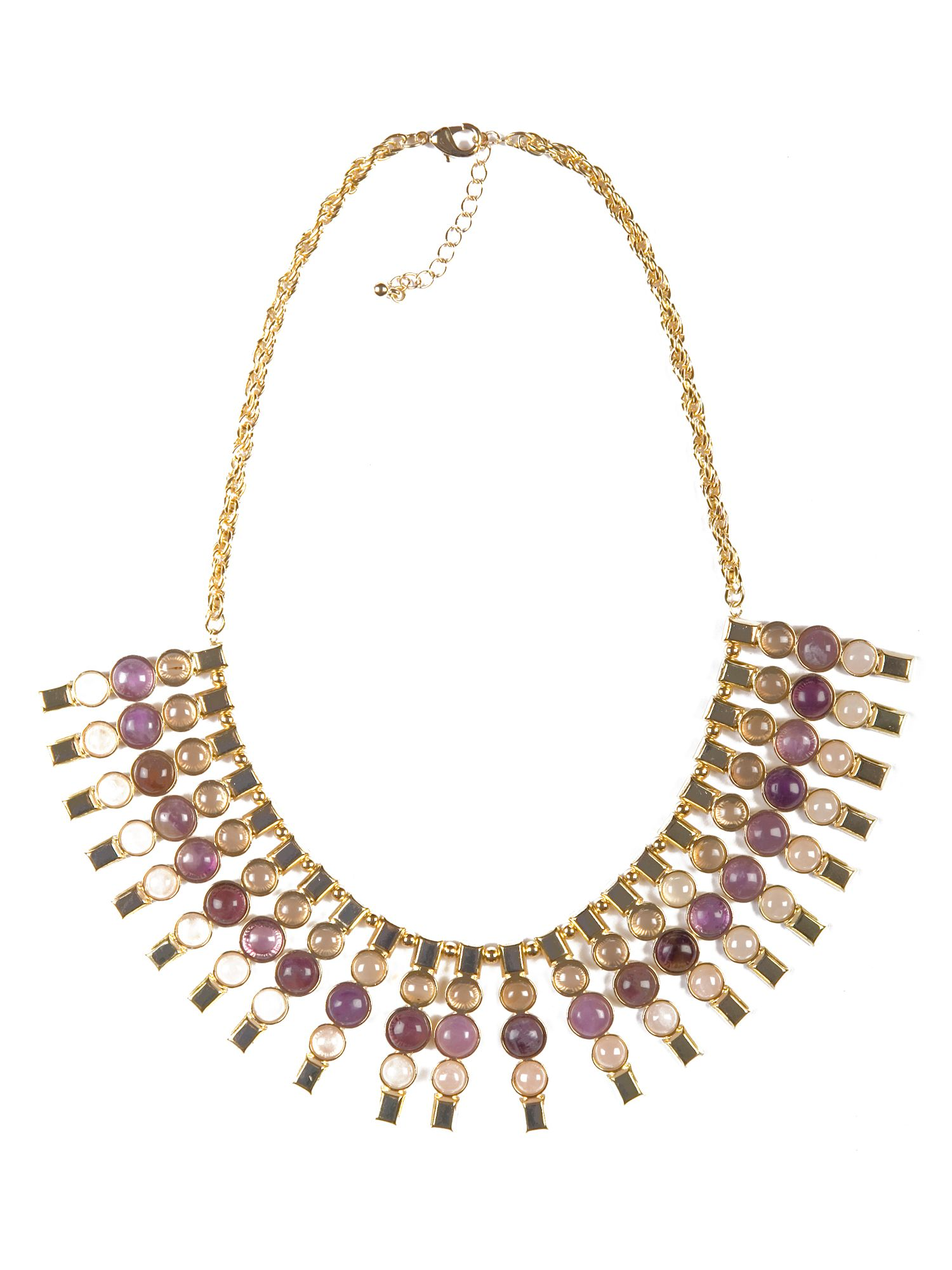 Semi Precious Amethyst Stone Necklace