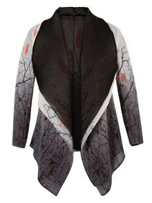 Chesca Reversible Printed Crush Pleated Shrug