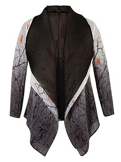 Reversible Printed Crush Pleated Shrug