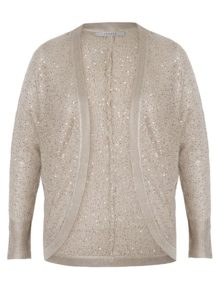 Chesca Sequin Knitted Shrug