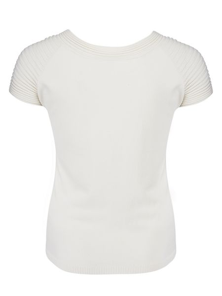 Chesca Plus Size Cap Sleeve Ribbed Trim Jumper
