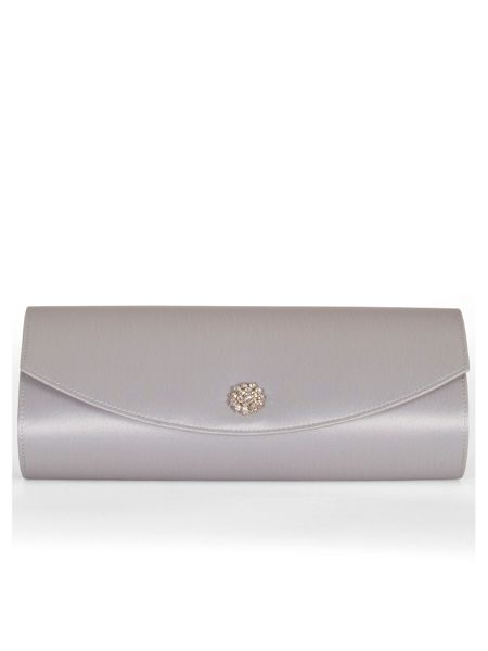 Chesca Satin Clutch Bag with Diamante Detail