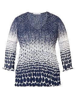 Plus Size Navy/white laser top