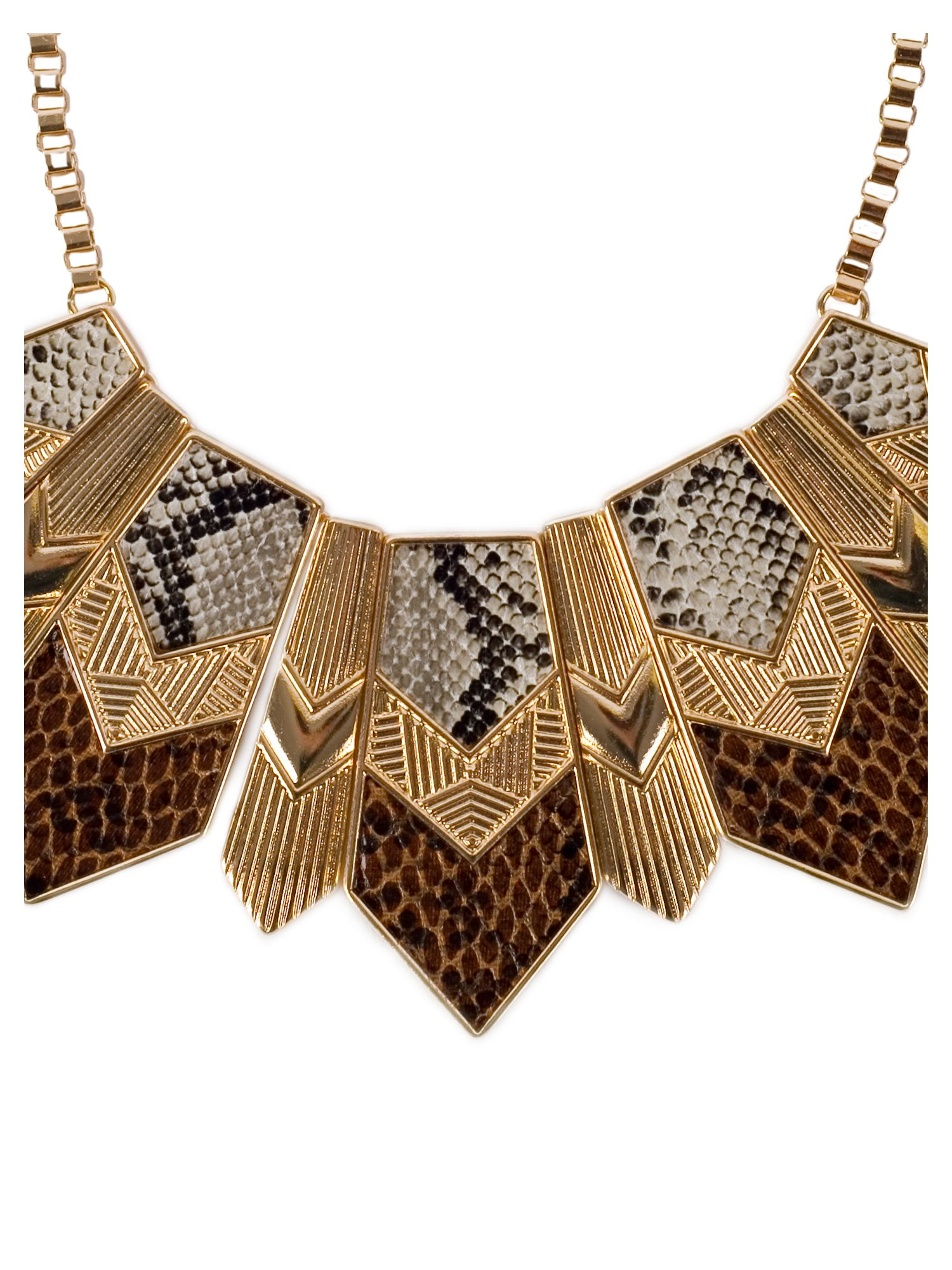 Snake Print Necklace