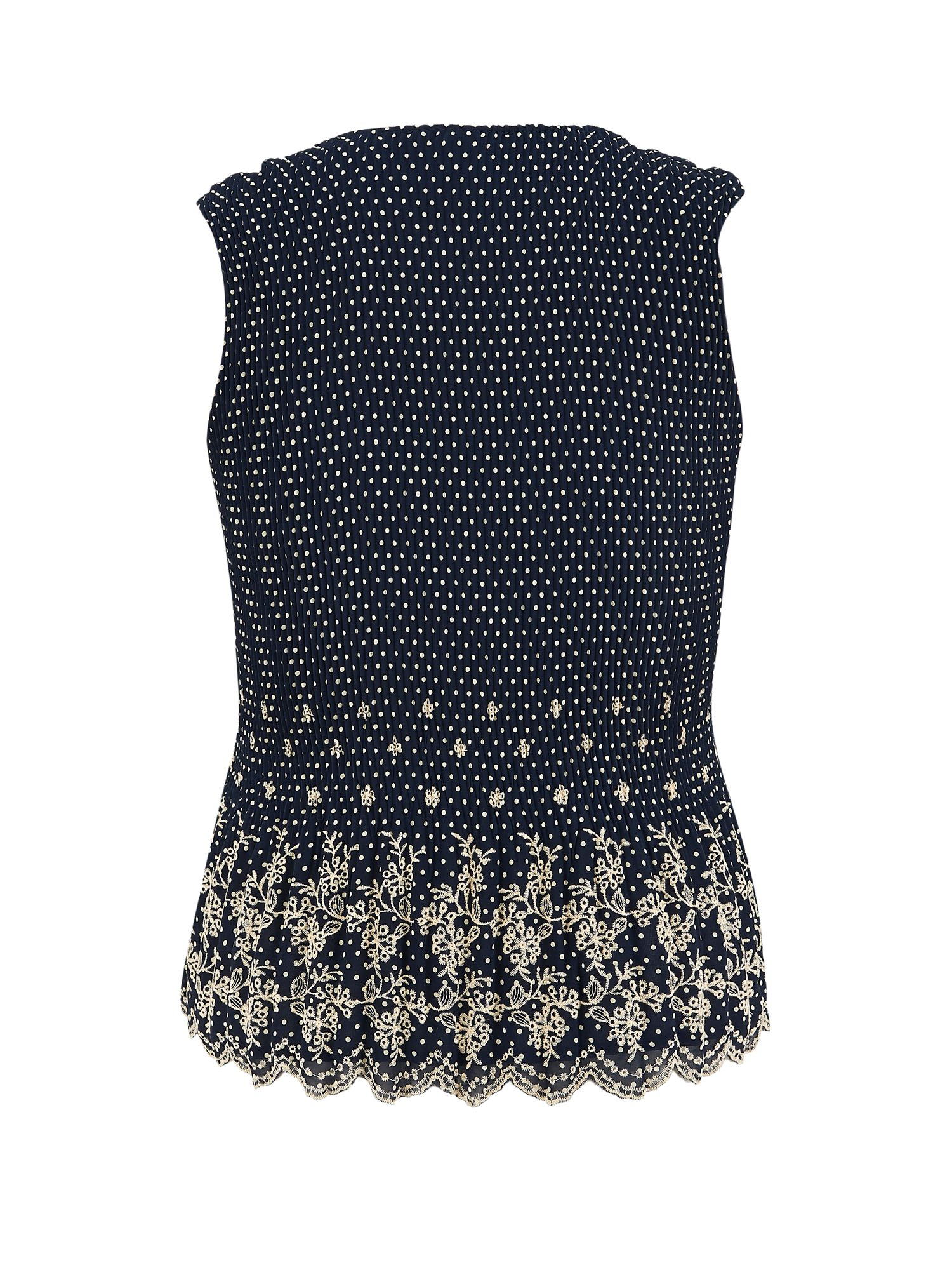 Spot Print Crush Pleat Camisole