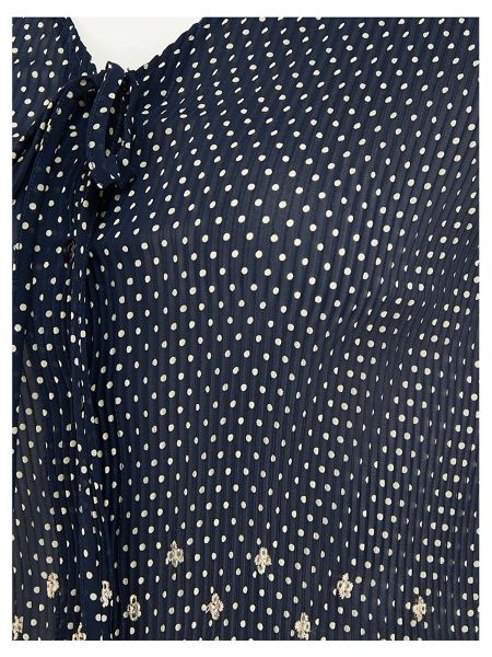 Chesca Spot Print Embroidered Crush Pleat Shrug