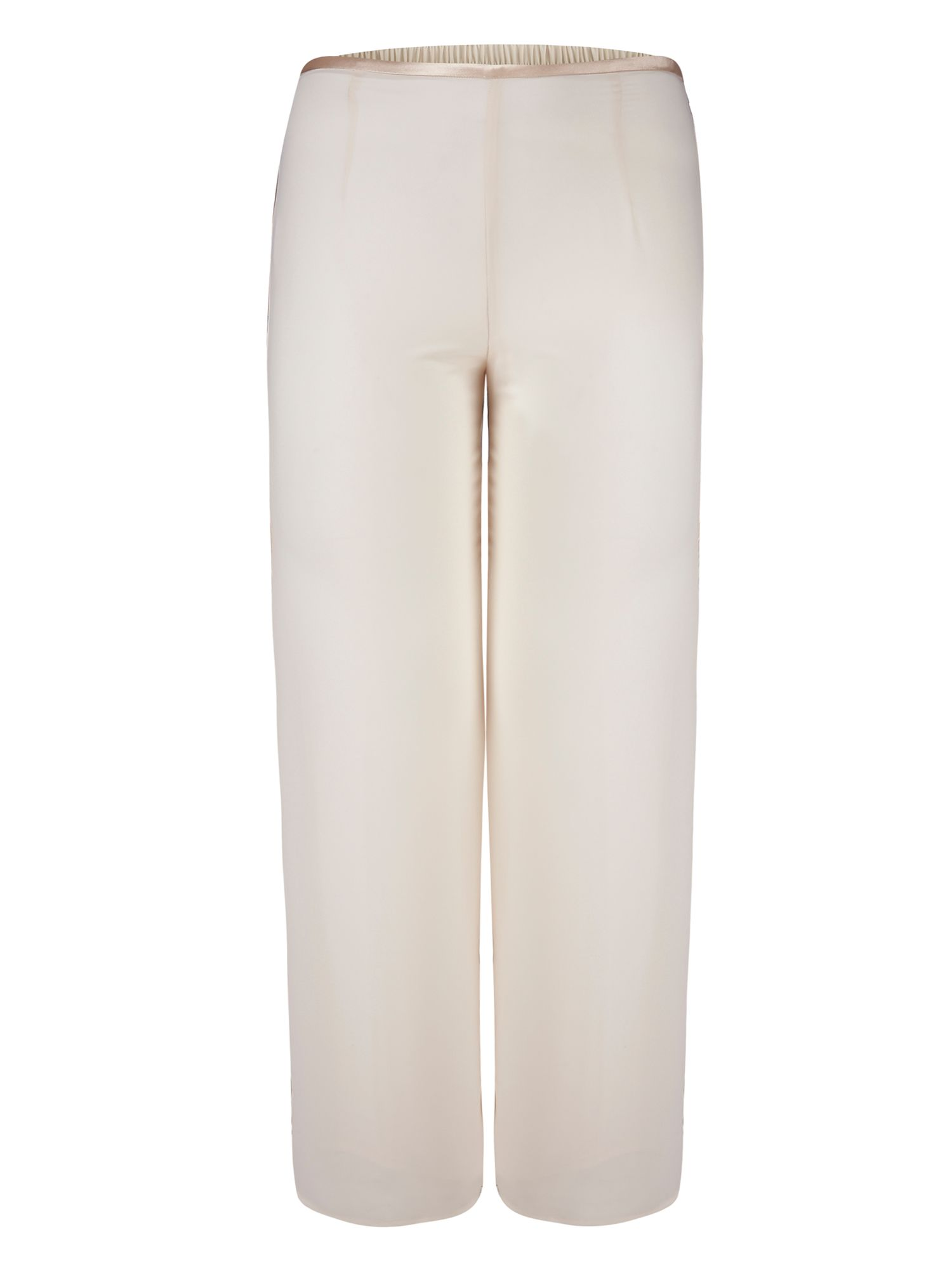 Satin Trim Chiffon Trouser