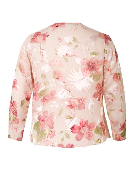 Chesca Floral Print Devoree Cinderella Shrug