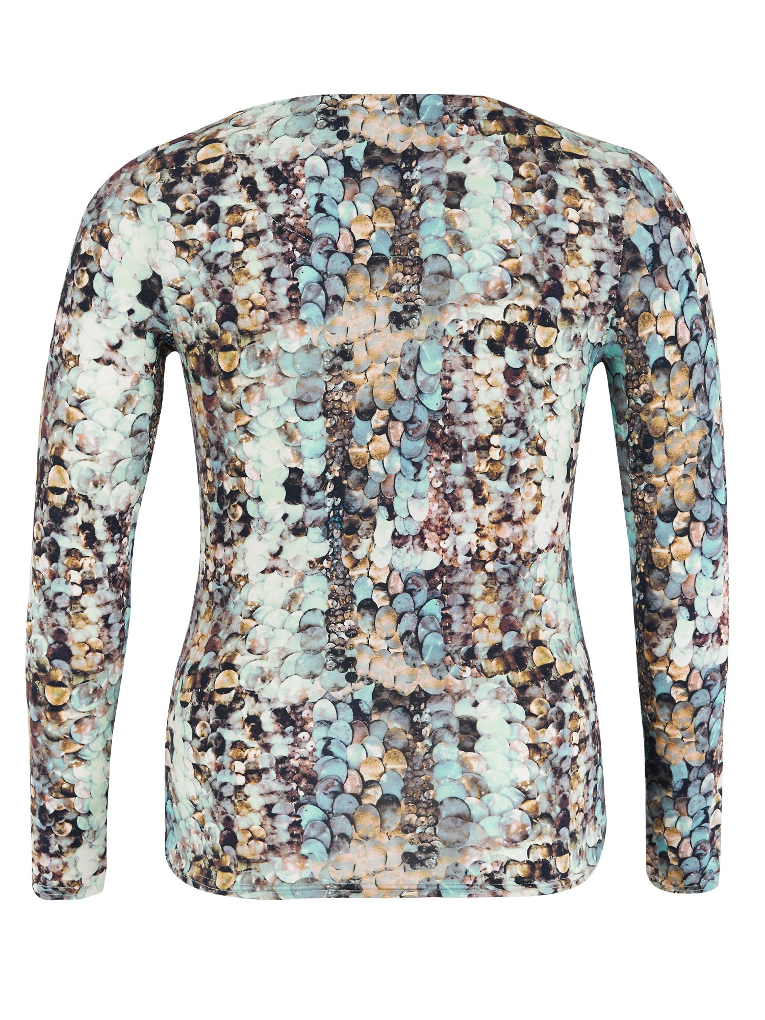 Sequin Print Jersey Long Sleeve Top