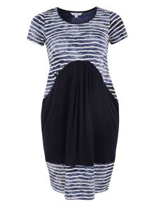 Chesca Tie Dye Stripe Jersey Dress