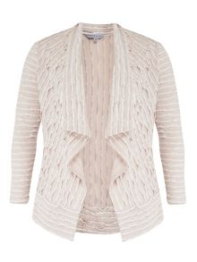 Chesca Fancy Jersey Striped Shrug