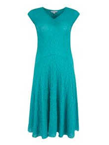 Ruched V-Neck Bubble Dress