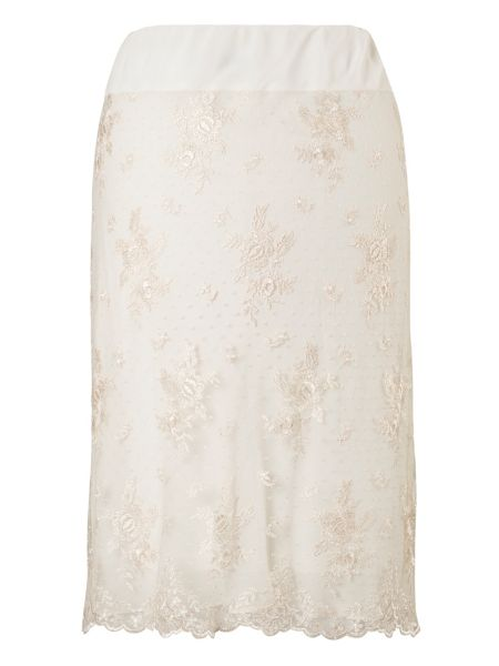 Chesca Scallopped Lace Skirt