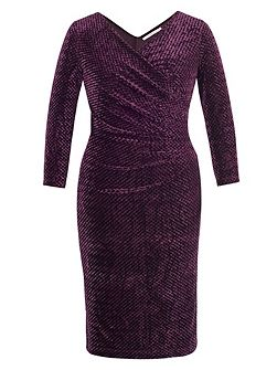Diamond Stretch Crush Velvet Dress