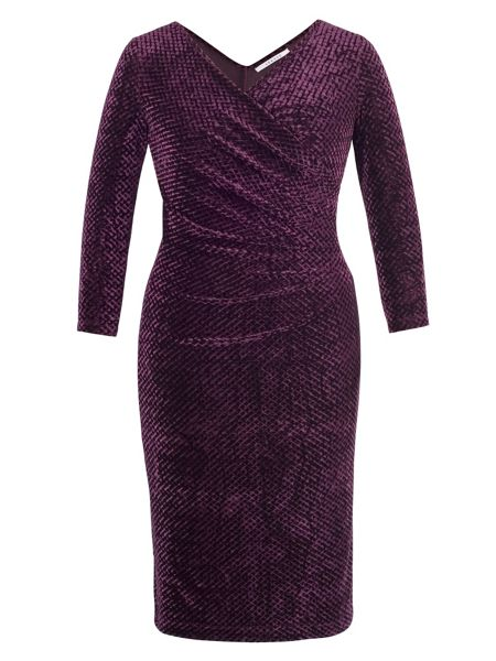 Chesca Diamond Stretch Crush Velvet Dress