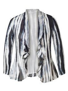 Chesca Ivory/Ink Shadow Stripe Shrug