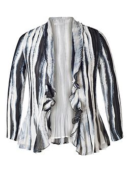 Ivory/Ink Shadow Stripe Shrug