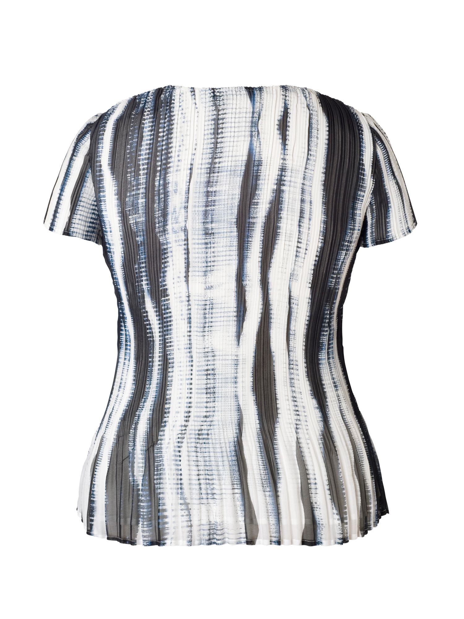 Ivory/Ink Shadow Stripe Top