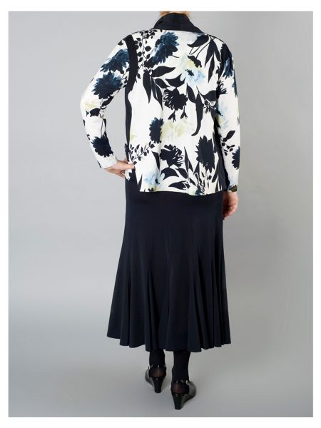 Chesca Floral Print Shrug with Trim