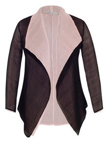 Plus Size Pink and Black Reversible Shrug