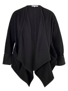 Chesca Black Drape Pocket Jacket