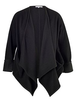 Black Drape Pocket Jacket